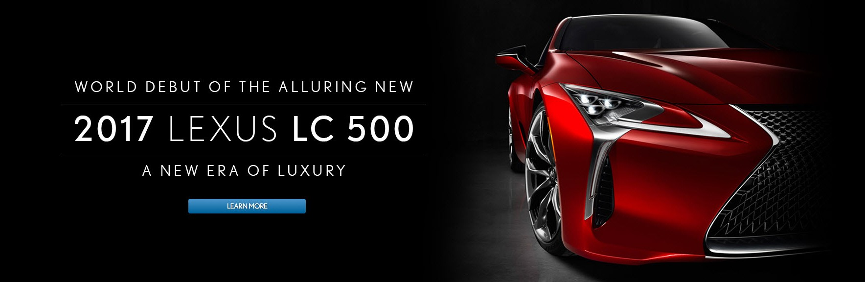 World debut of 2017 Lexus LC 500
