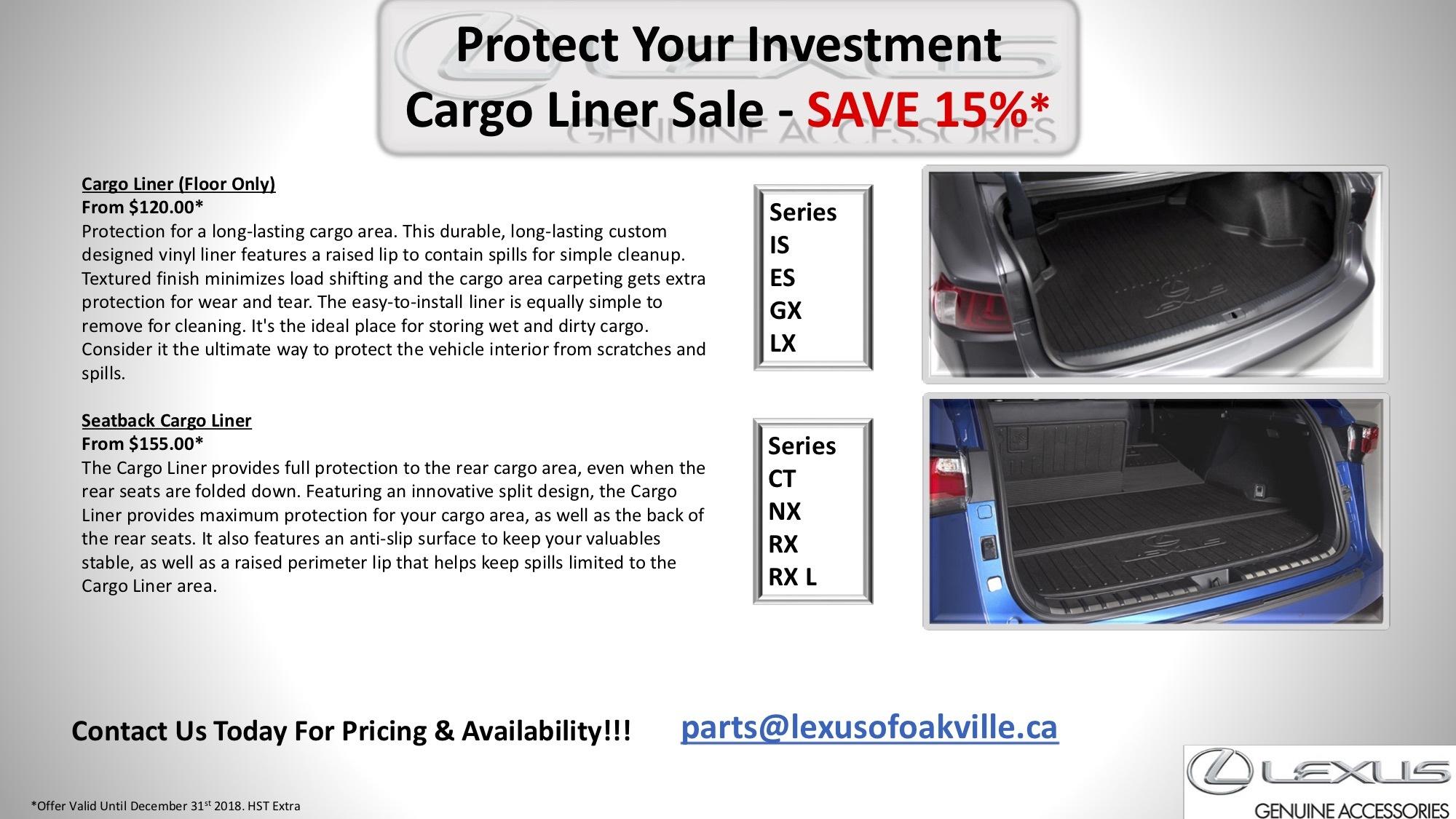 Cargo Liner Sale