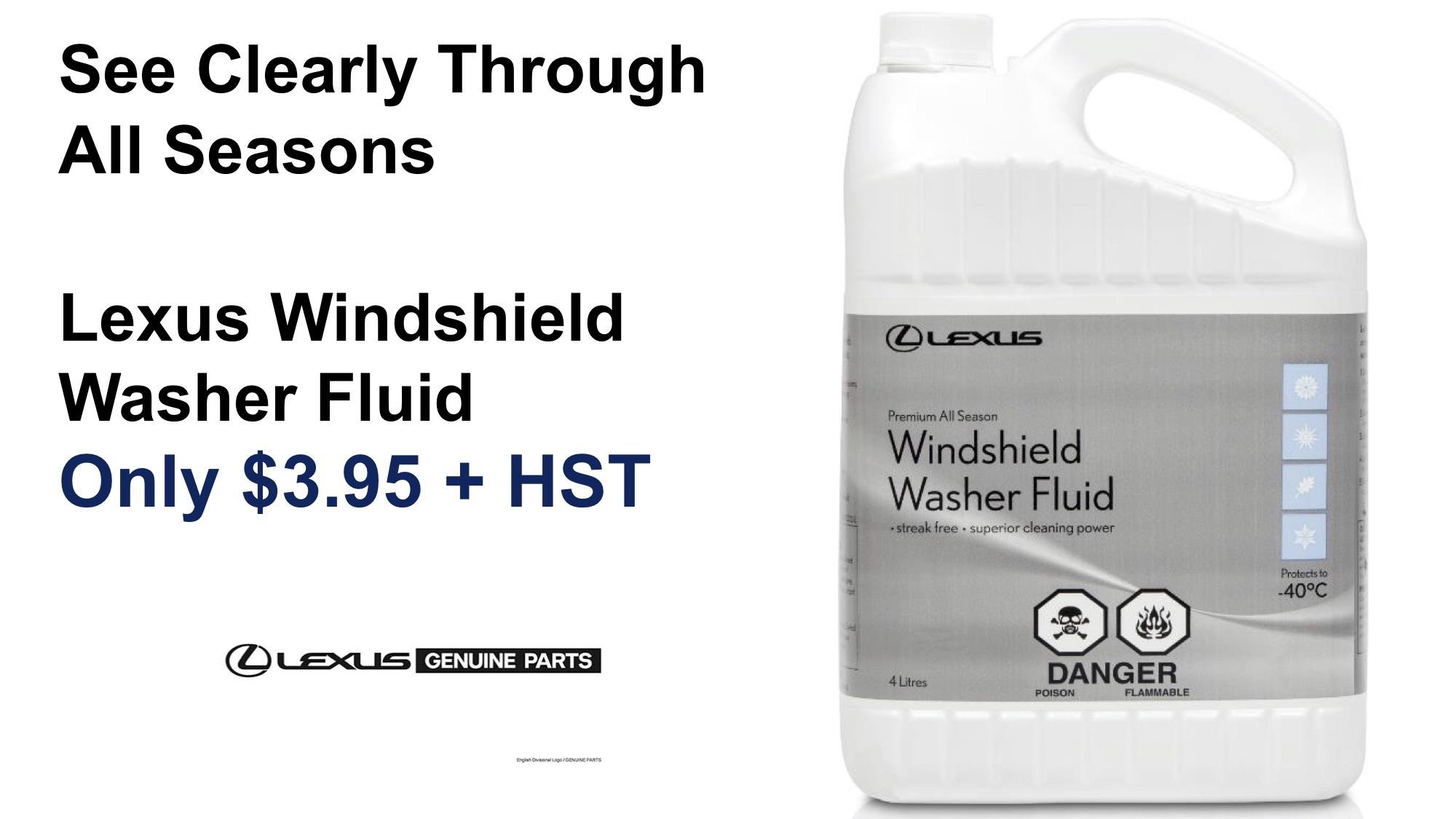 Lexus Windshield Washer Fluid